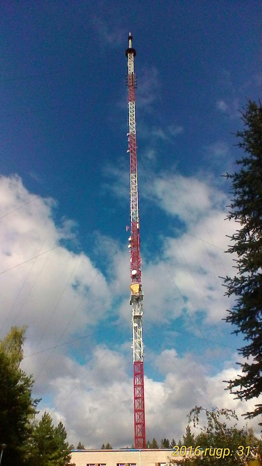 Visaginas. TV stiebo aukštis – 250 m. 2016 m.